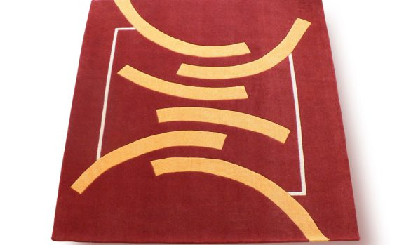serenite, tapis-zen, rouge, graphique