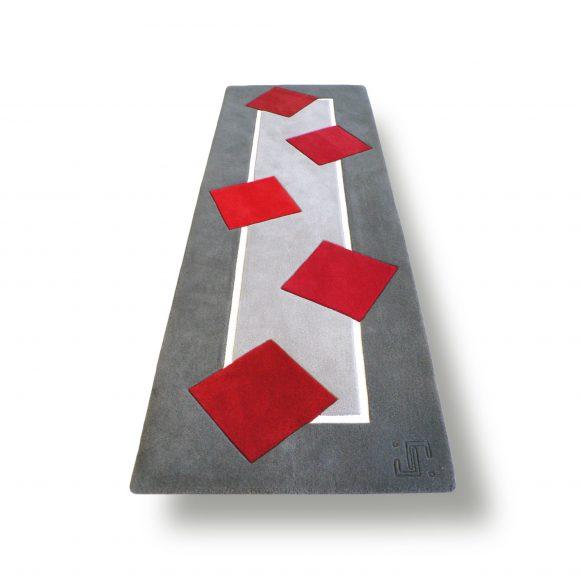 chemin-aux-carres, tapis long, chemin-de-sol, design