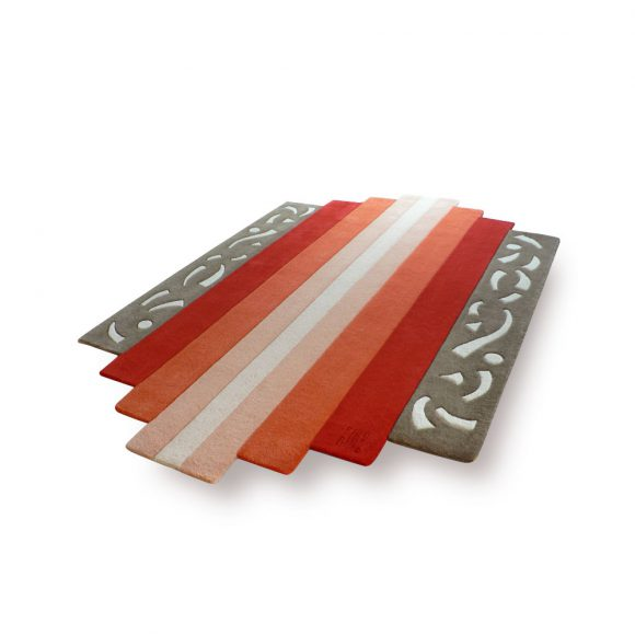 diatonic, tapis-art-déco, accordeon, gris, orange