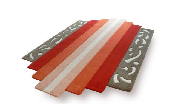 diatonic, tapis-art-déco, accordeon, gris, orange
