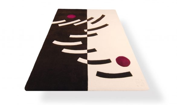 errances-nocturne, tapis noir-et-blanc, zen