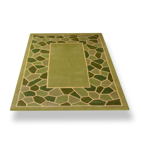 tapis rectangle vert mozaique