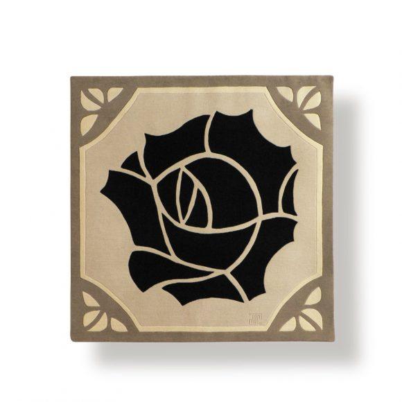 rose-noire, tapis contemporain, art-deco