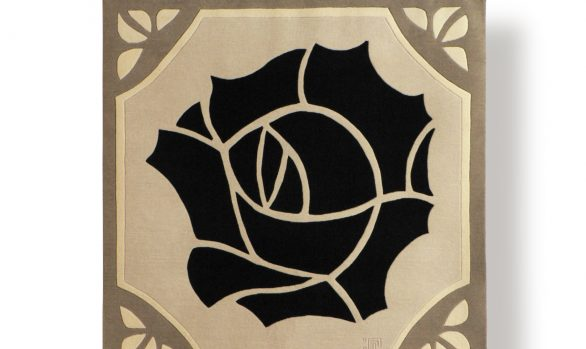 rose-noire, tapis contemporain, art-deco