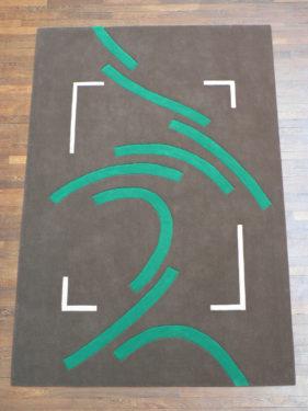 sur-un-air-de-danse, tapis moderne, gris, vert