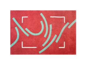 tapis rouge et vert moderne graphique