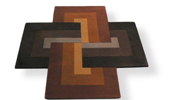 tapis croix moderne brun naturel