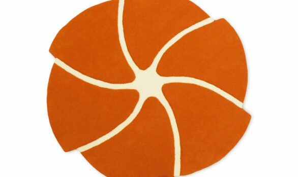 helicoide tapis orange rond