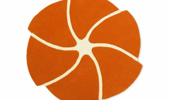 helicoide tapis orange rond