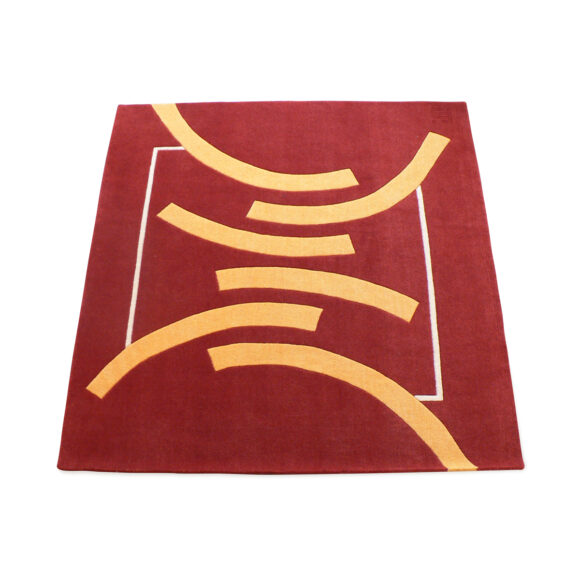 tapis design moderne rouge rectangle