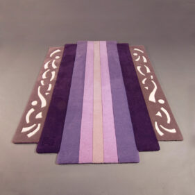 diatonic, tapis-violet, moderne, art-deco
