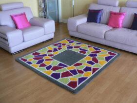 mozaïc, tapis-tuft, colore, multicolore