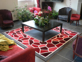 mozaïc, tapis-de-salon
