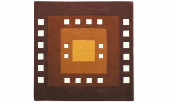 potala - tapis carré en laine teinture naturelle