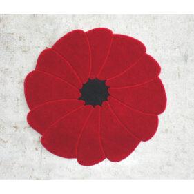 spirit-flower, tapis rond, rouge, moderne, createur