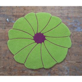 spirit-flower, tapis-contemporain, couleur, vert, violet