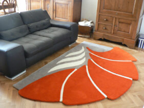 tutti-flori, tapis-a-fleur, orange, gris