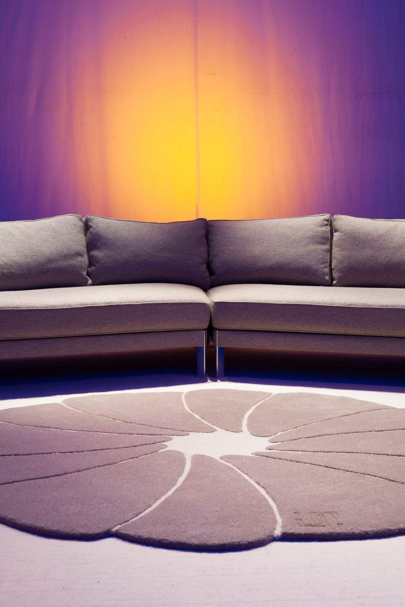 spirit-flower, tapis laine naturelle, laine bizet, rond, tapis de sol, salon, design