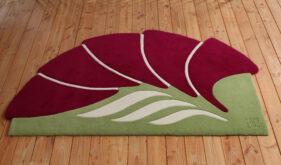 tutti-flori, tapis créateur, rouge, vert, original, design