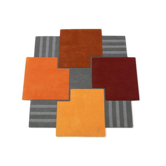 la ronde des carrés - tapis design moderne