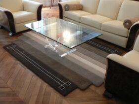 tapis art-déco teintes naturelles