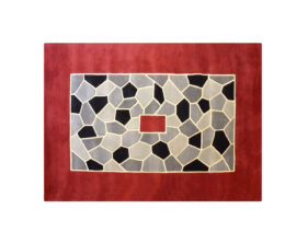 tapis rectangle rouge mozaique