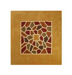 tapis ocre jaune mosaic