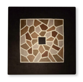 tapis mosaic noir sombre